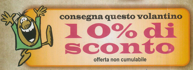 coupon sconto 10% osteria da angelo ariccia