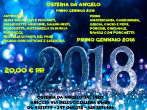 menù del primo dell'anno 2018 - festività di natale e capodanno in fraschetta - Ariccia