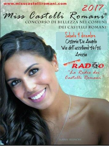 Miss Castelli Romani Osteria da Angelo sabato 9 dicembre 2017